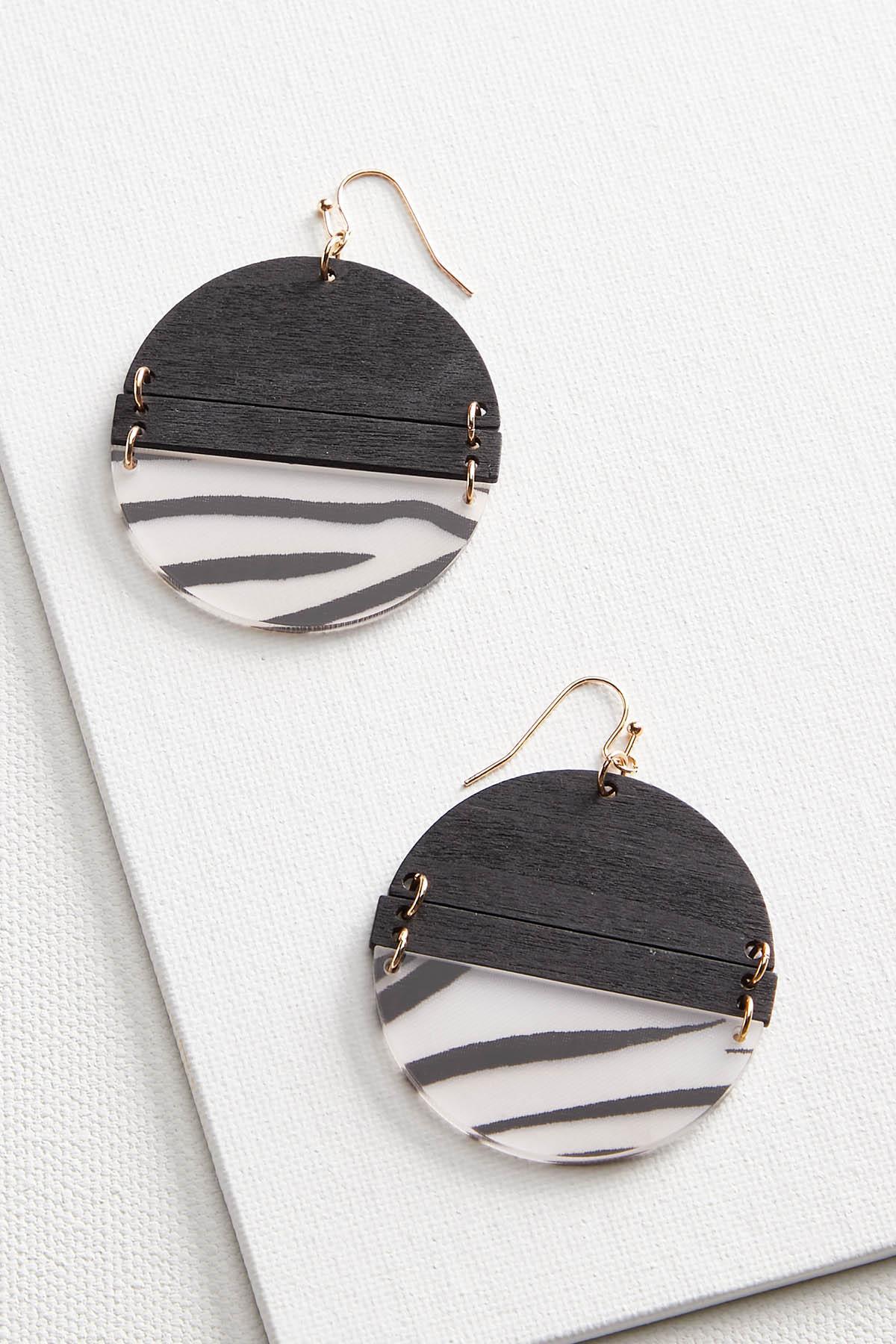 Mod Zebra Earrings