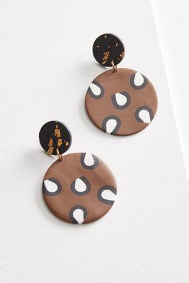 clay animal earrings