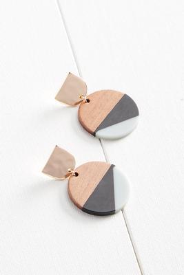 mixed materials earrings