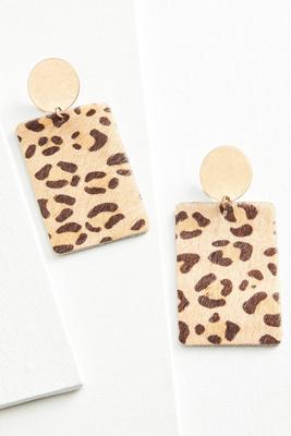 natural cheetah earrings