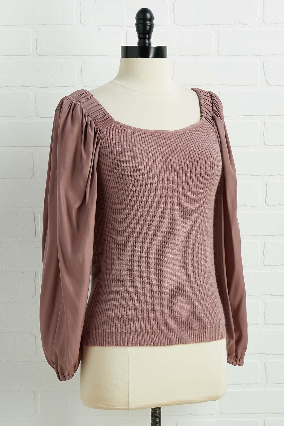 Muave Over Sweater