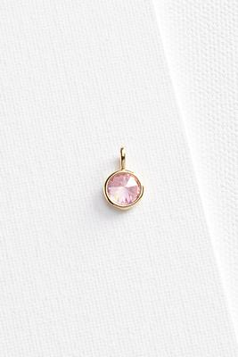 rose stone 18k charm