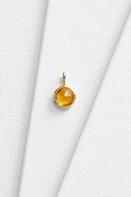 topaz stone 18k charm