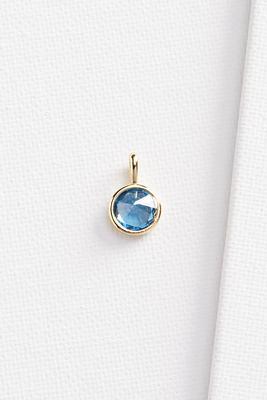 zircon stone 18k charm