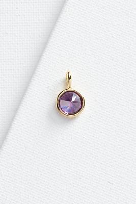 amethyst stone 18k charm