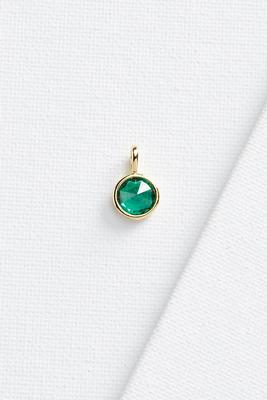 emerald stone 18k charm