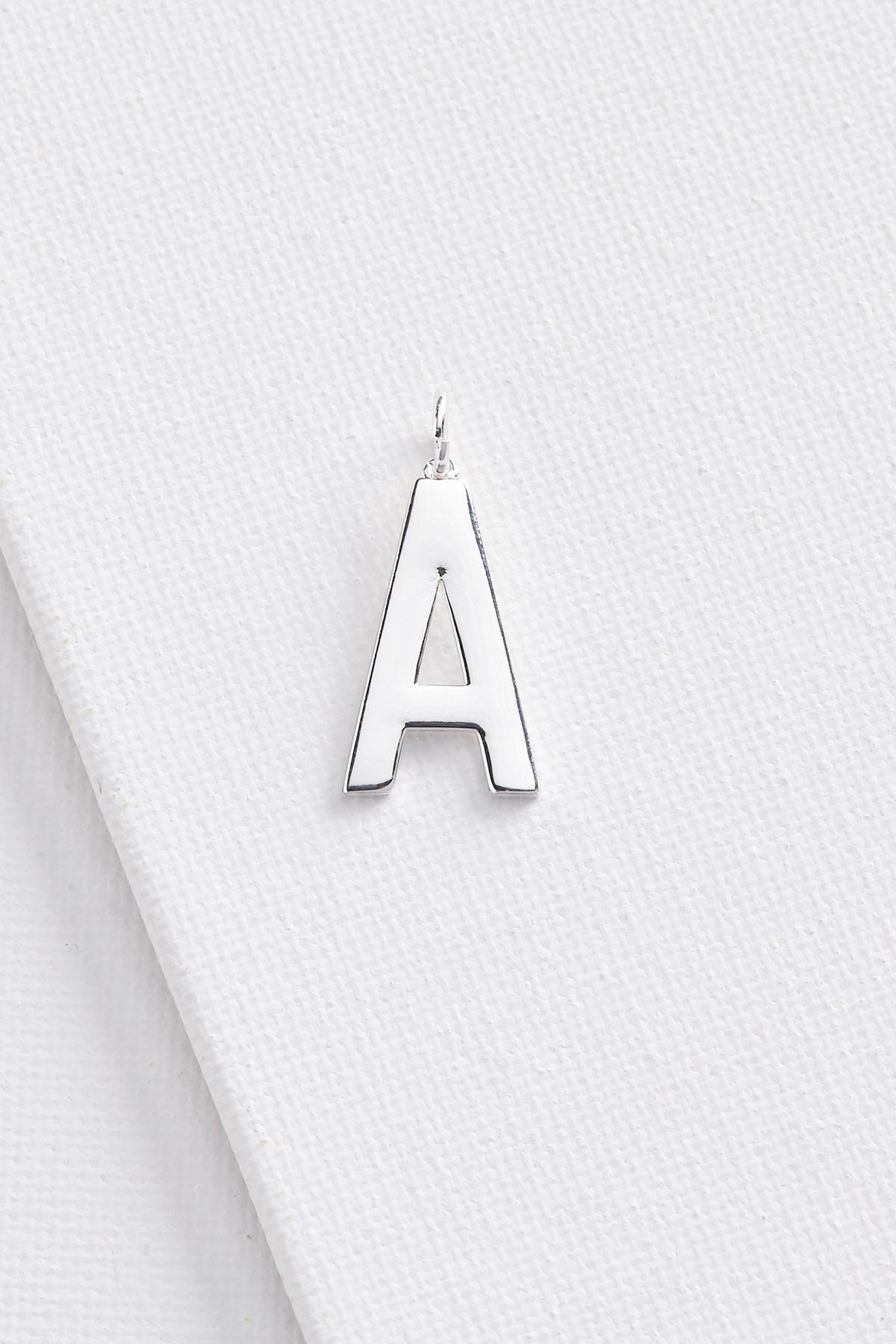 Silver Plated A Initial Charm