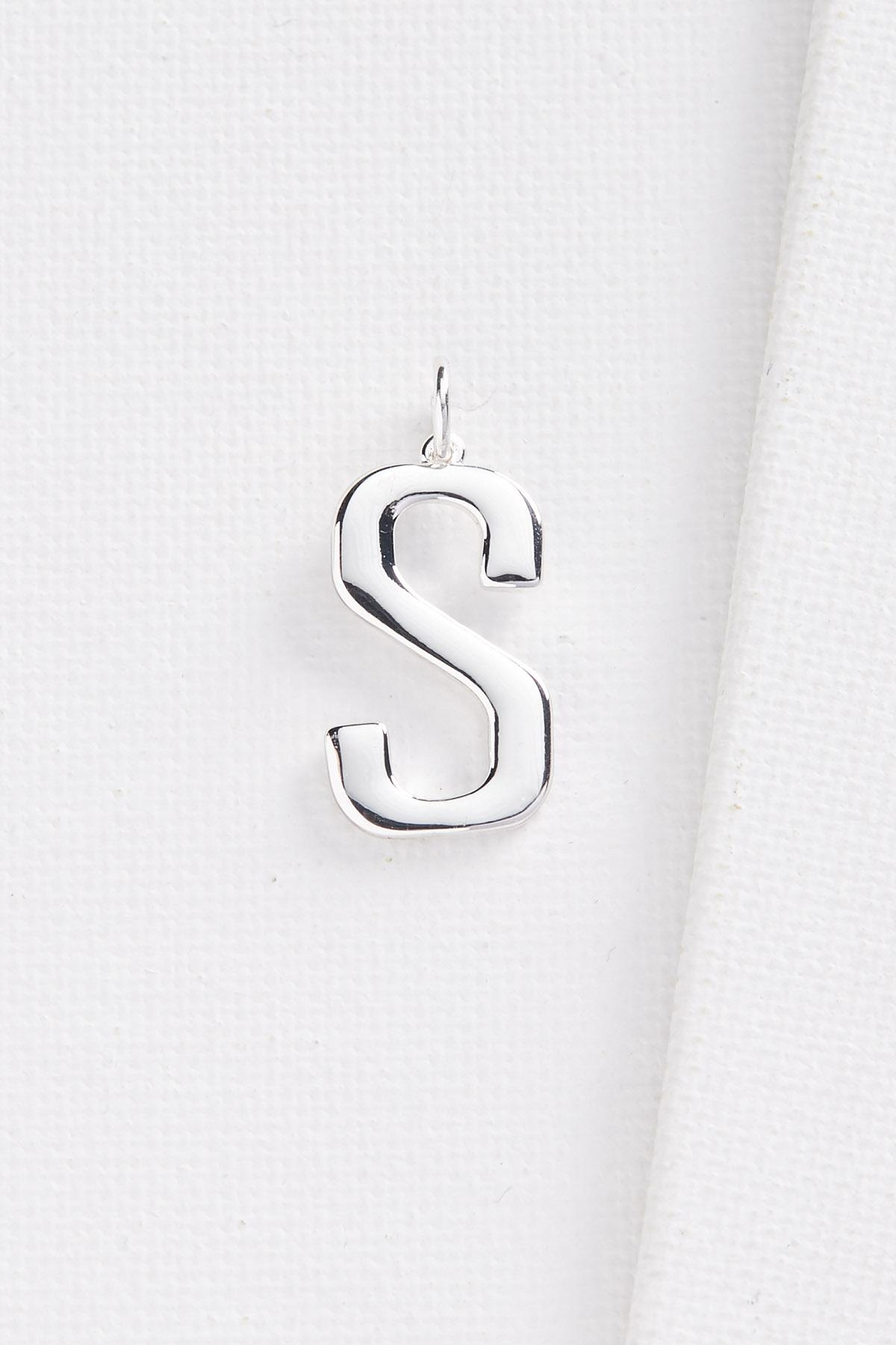 Silver Plated S Initial Charm