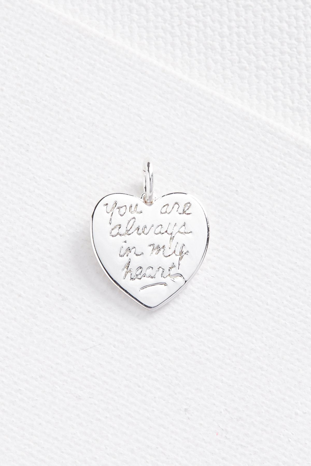 Silver Plated Heart Charm