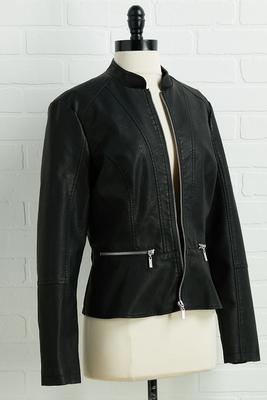 never say leather jacket
