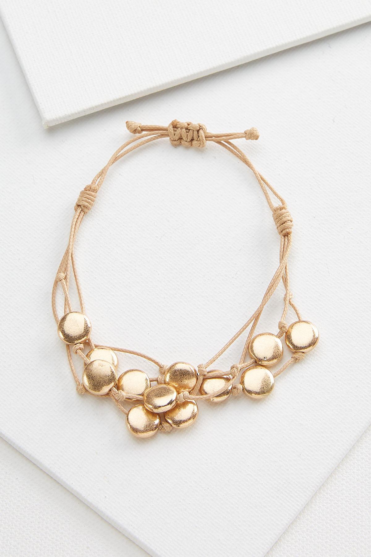 Beaded Gold Bracelet