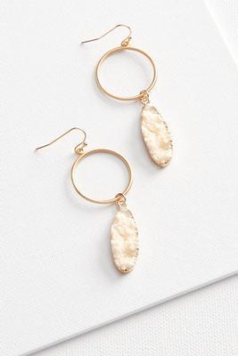 metal and druzy earrings