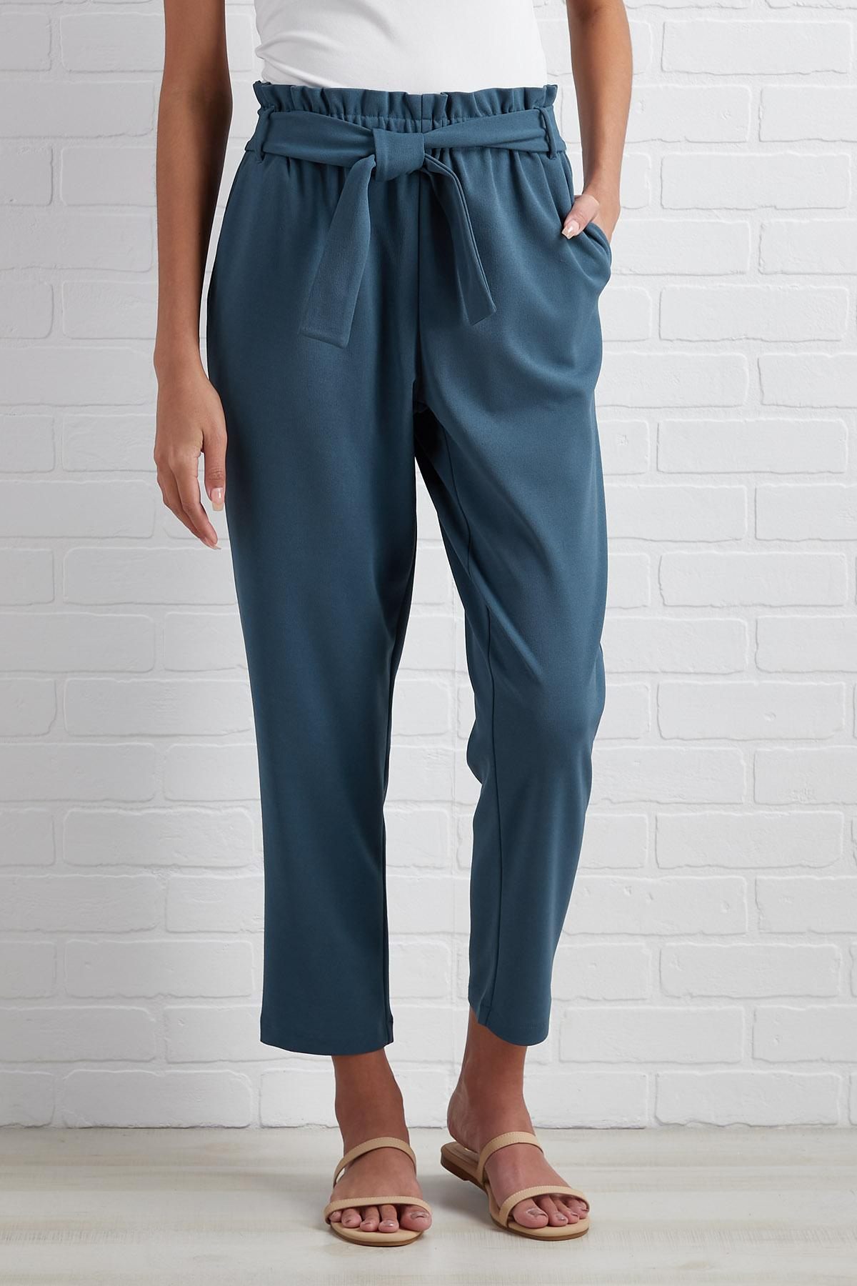 Crop Drop And Roll Pants