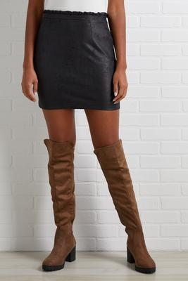 suede to be together skirt