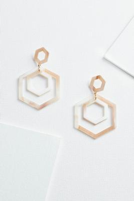 geo acrylic earrings