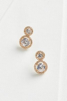 circular pave earrings