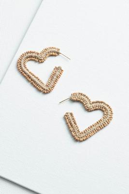 boho heart hoop earrings