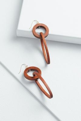 linear wood earrings