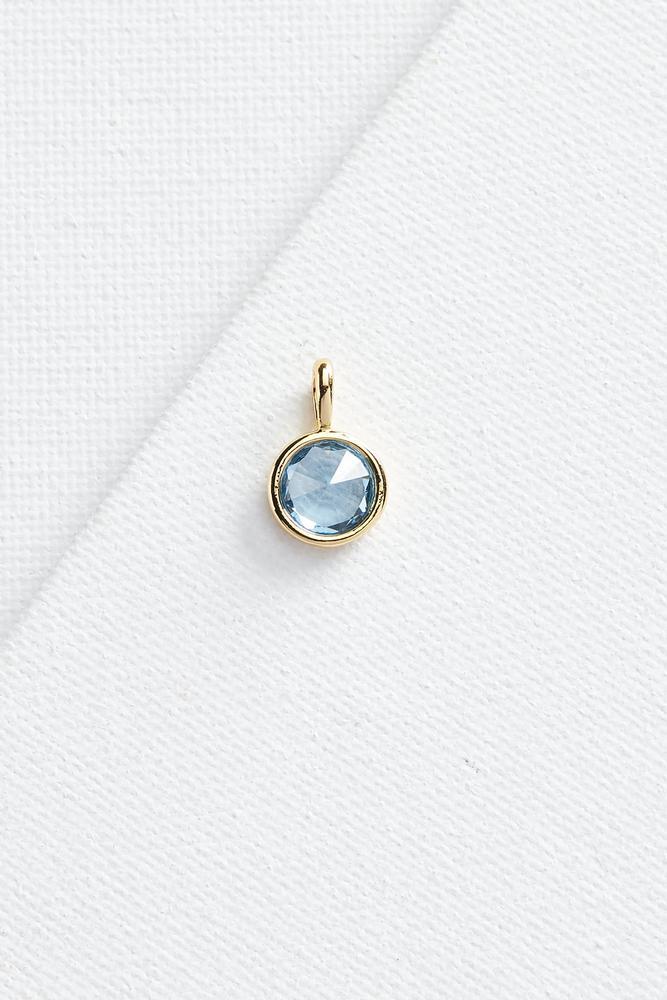 Sapphire Stone 18k Charm