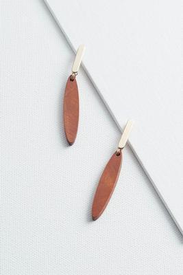 linear wooden earrings