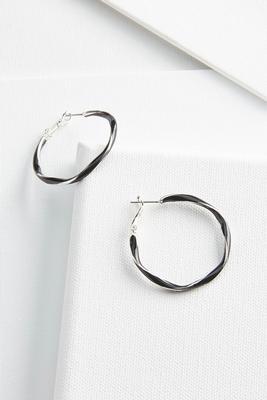 twist resin earrings