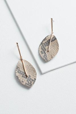 natural snake earrings