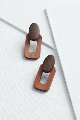 wood doorknocker earrings