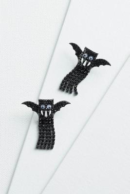 bats crazy earrings