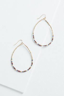 beaded tear earrings