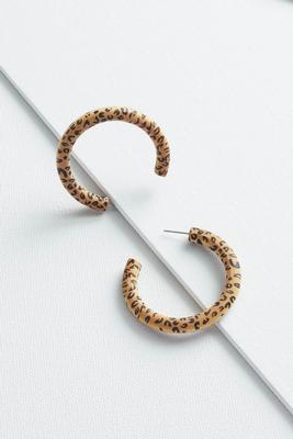 wooden animal earrings