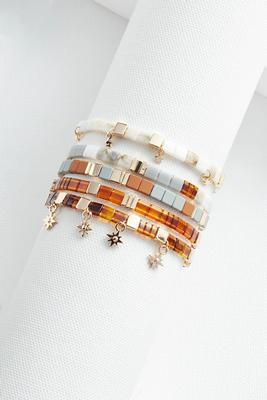 neutral tile bracelet set