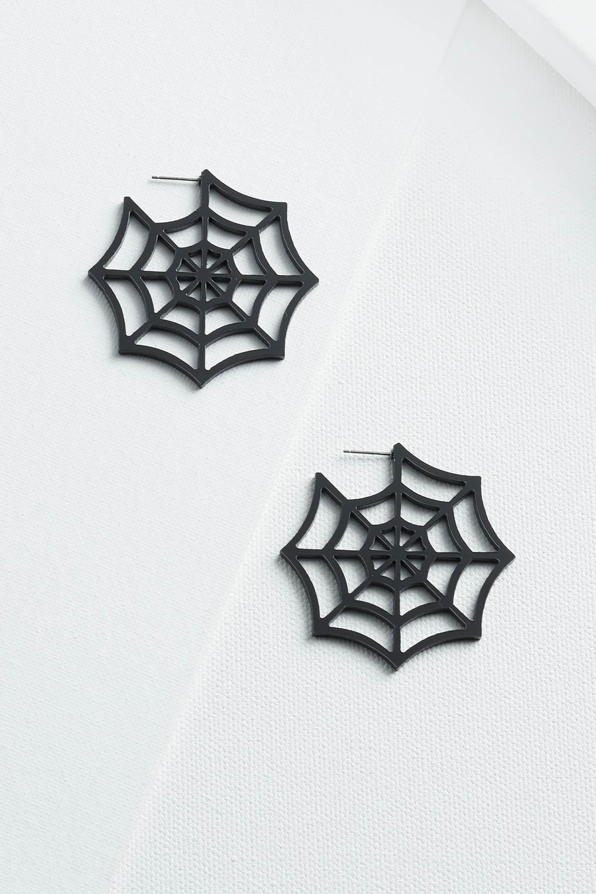 Web Of Lies Hoop Earrings