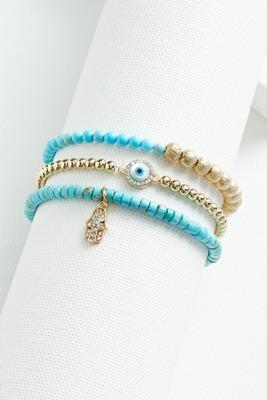 evil eye beaded bracelet set