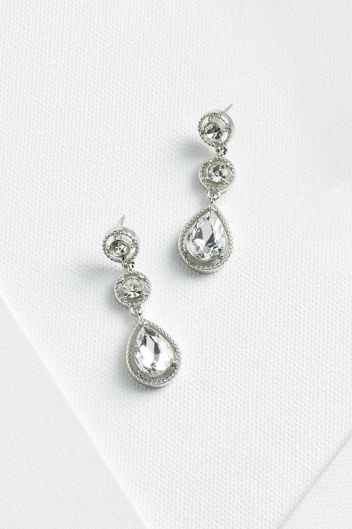 Tiered Sparkle Earrings