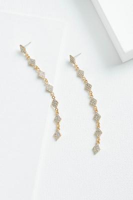 linear bling earrings
