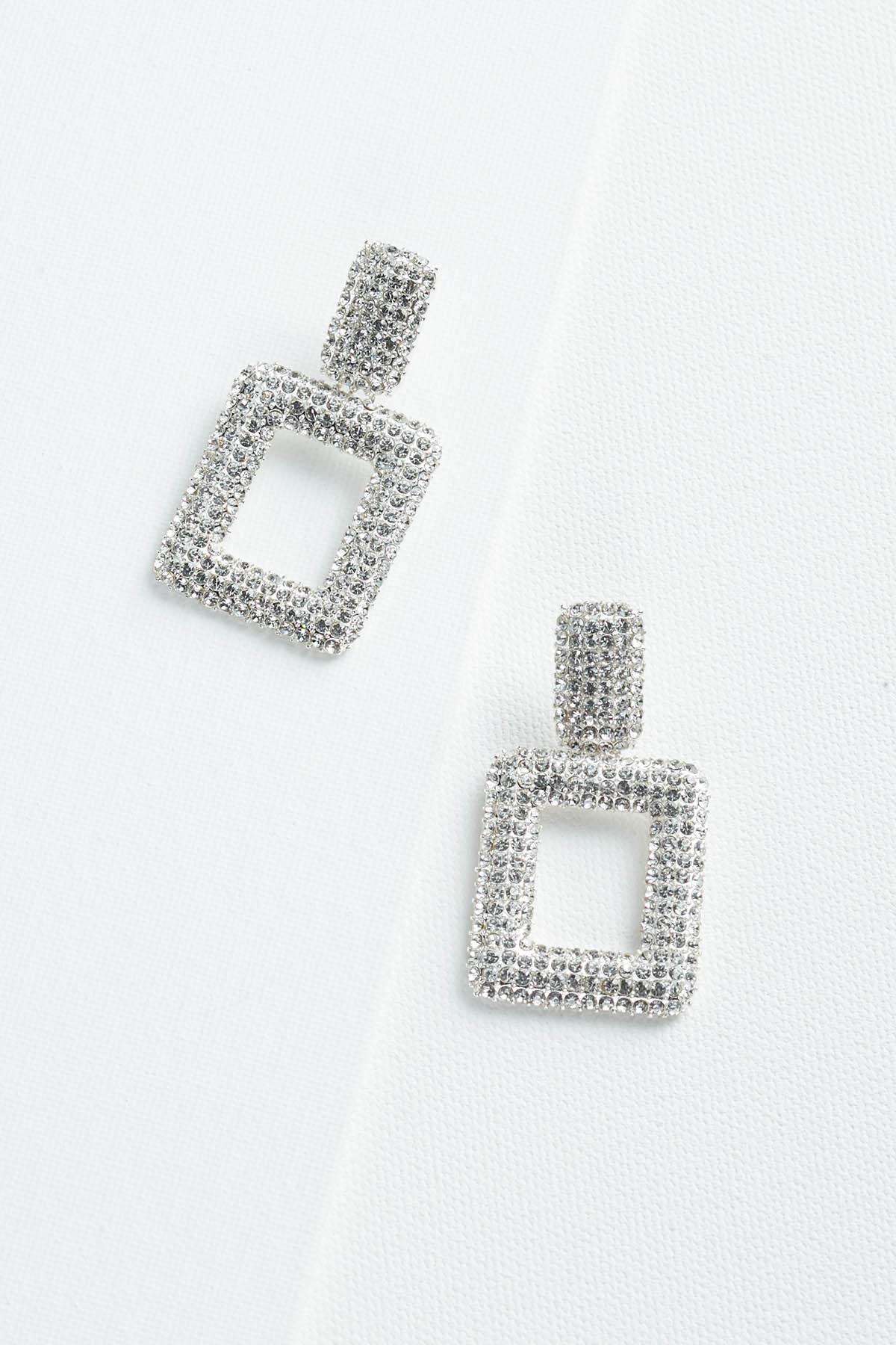 Rhinestone Doorknocker Earrings