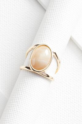double banded stone ring