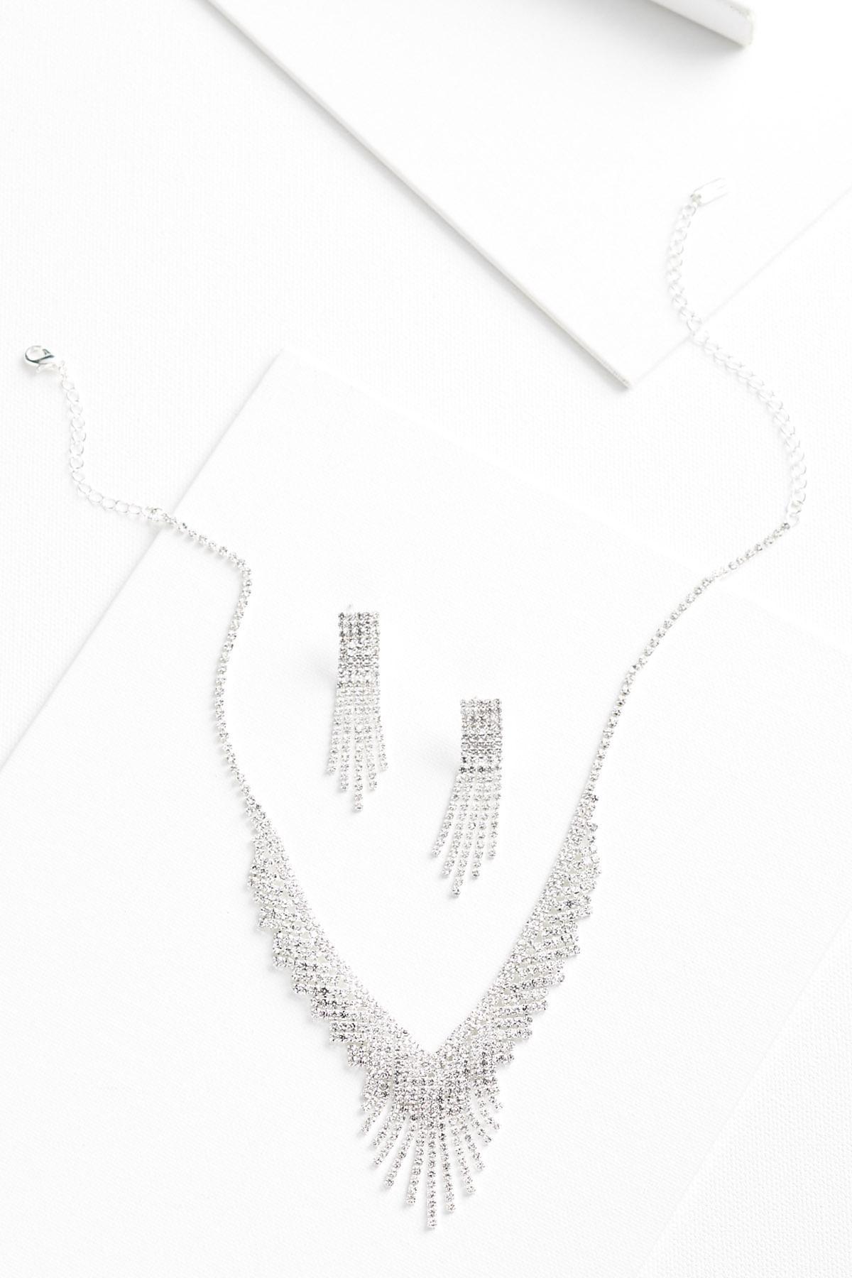 Sparkle Fringe Jewelry Set