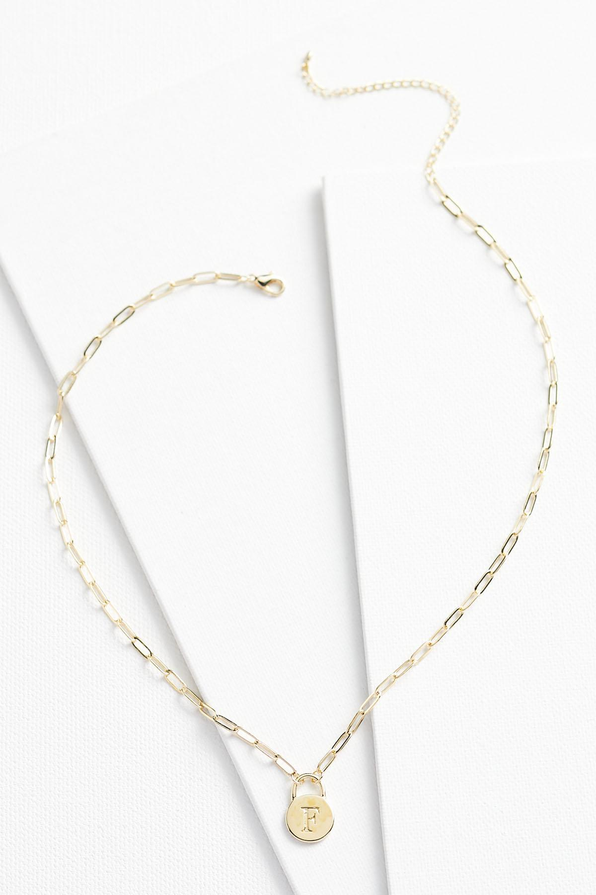 18k F Pendant Necklace