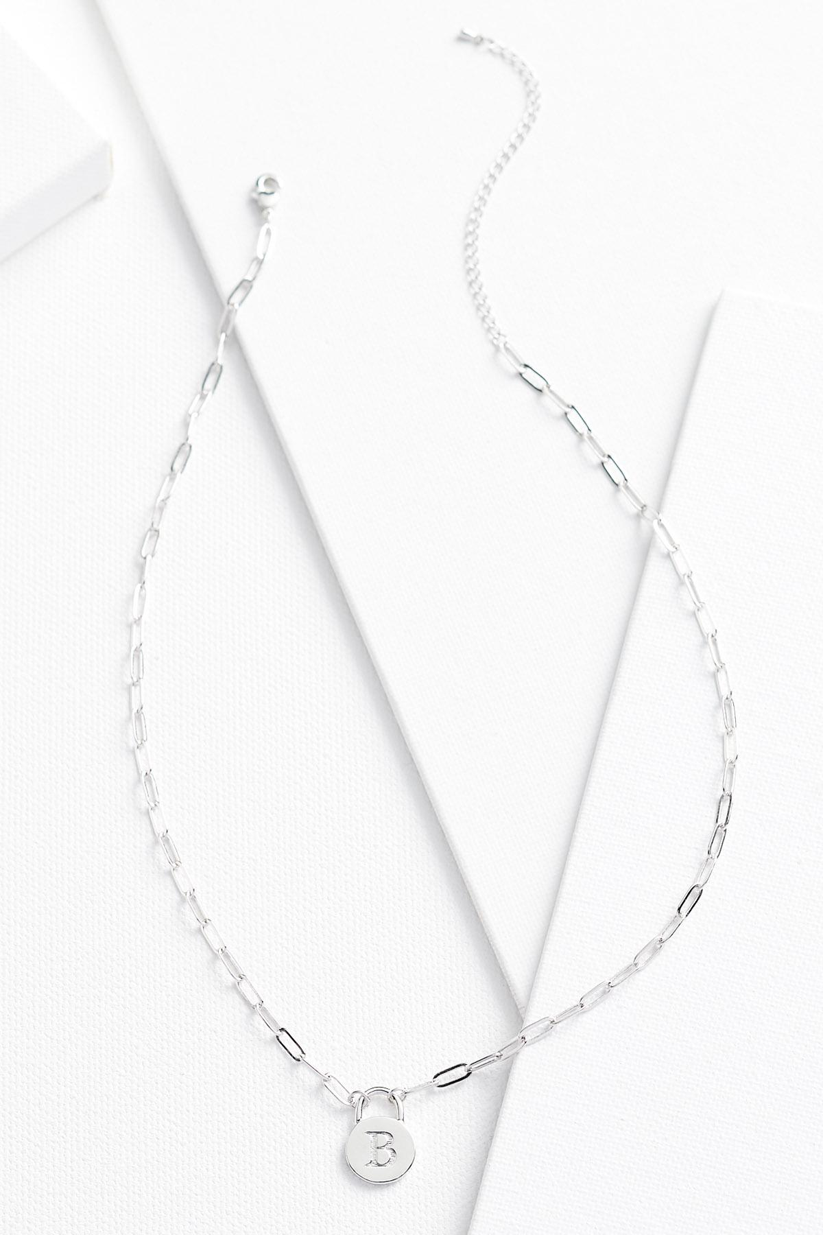 Silver B Necklace