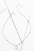 Silver E Necklace