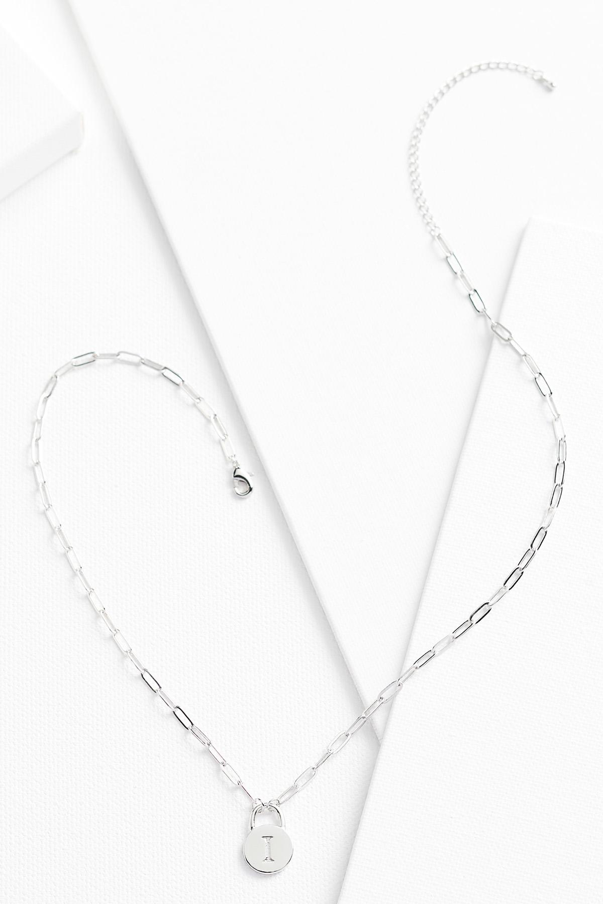 Silver I Necklace