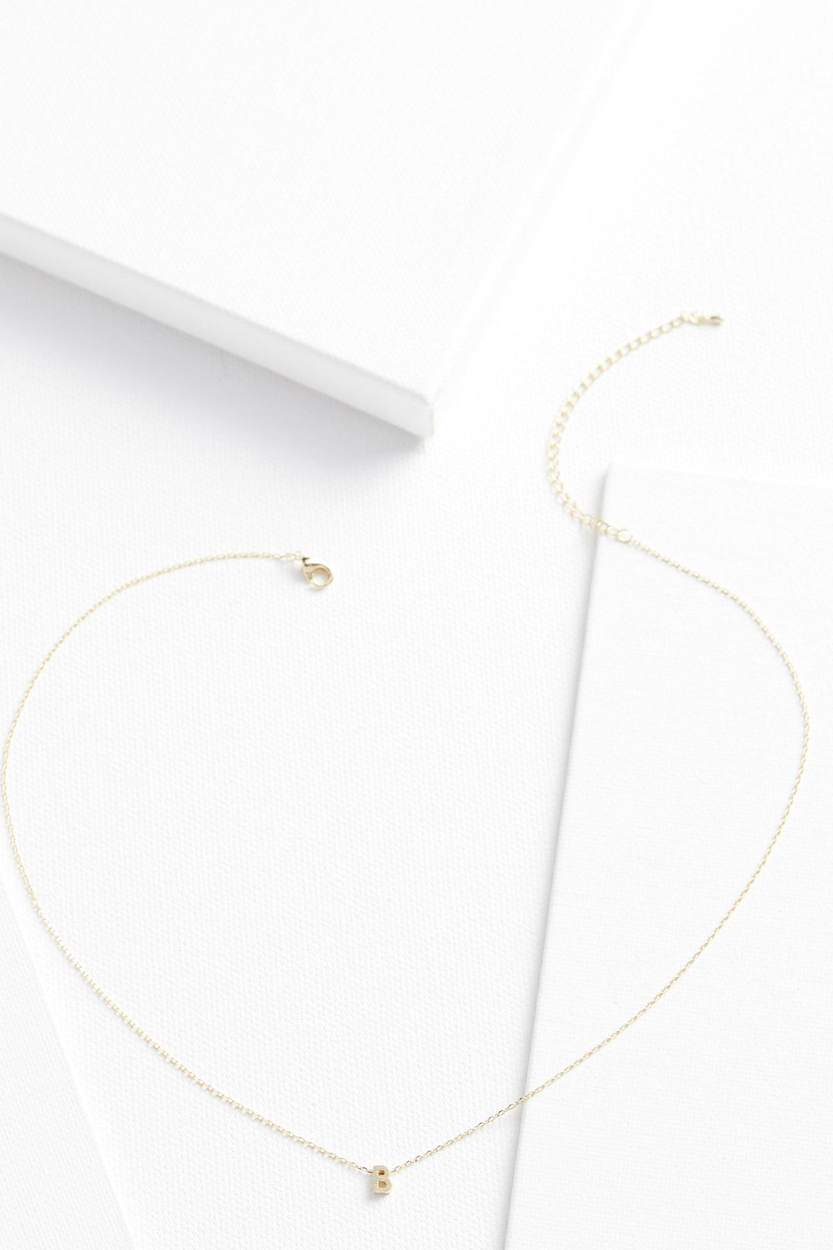 18k Tiny B Necklace
