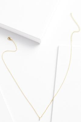 18k tiny i necklace