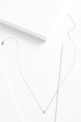 18k tiny n necklace