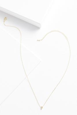 18k tiny p necklace