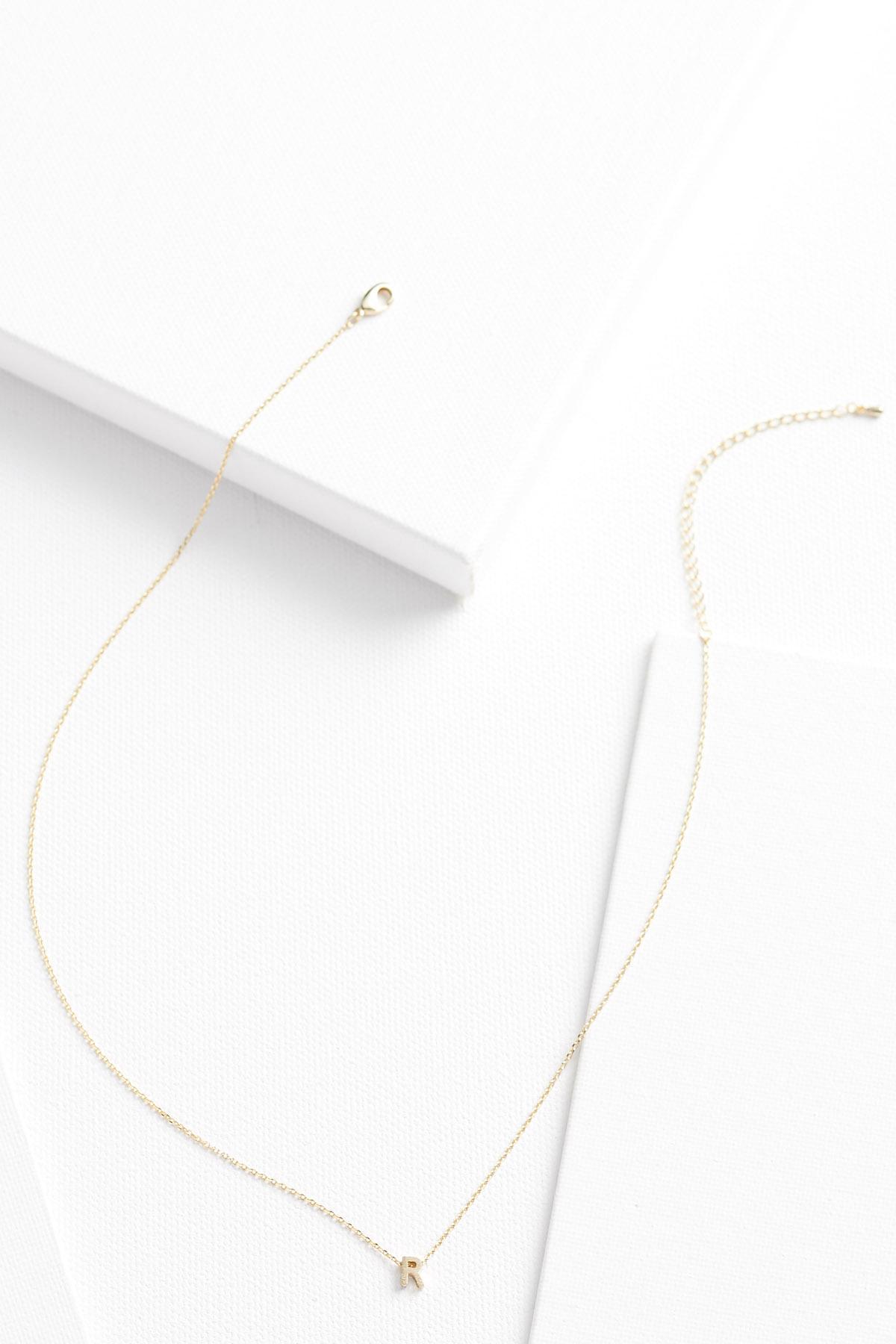 18k Tiny R Necklace