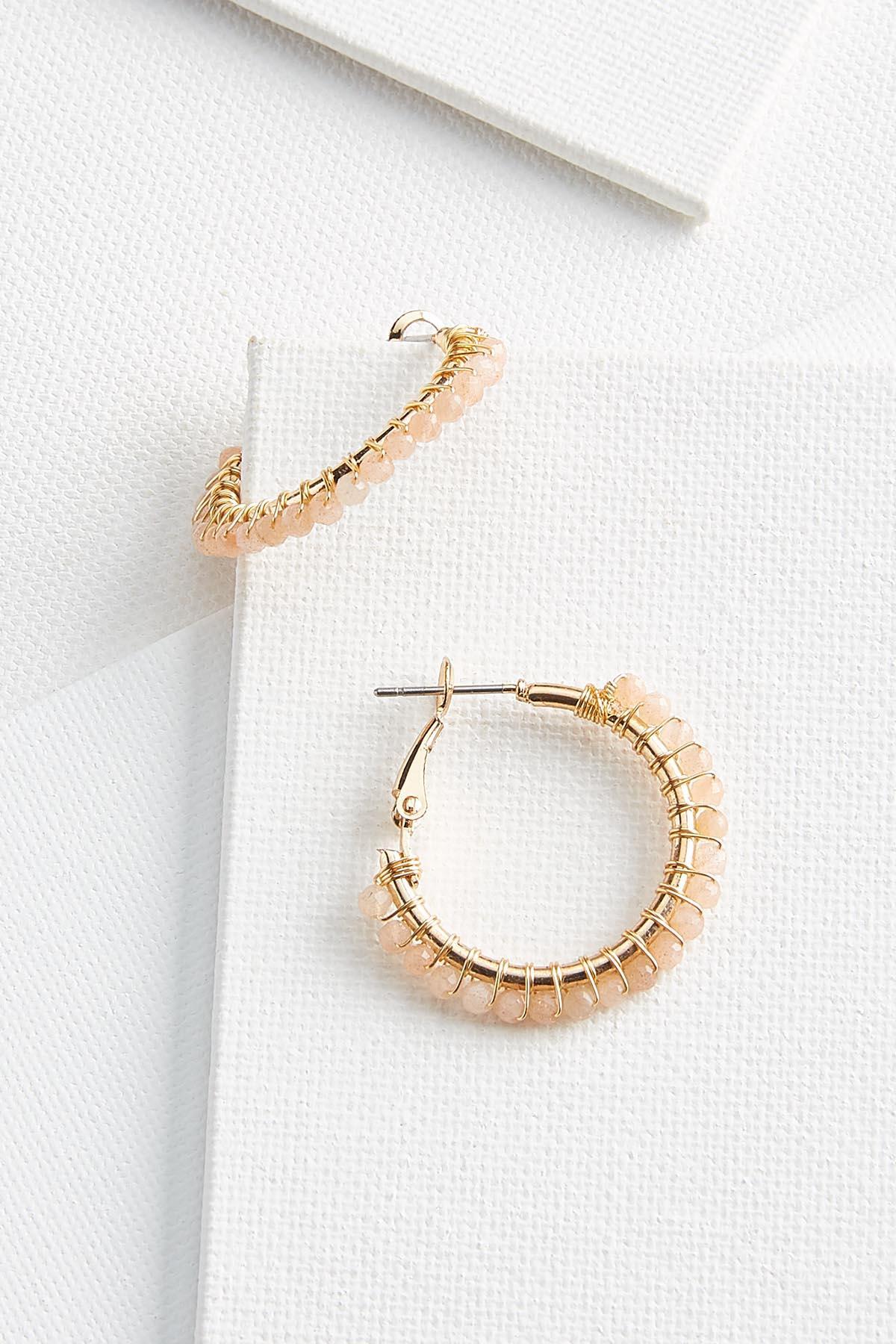 Crystal Wire Hoop Earrings