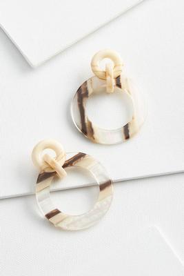neutral link earrings