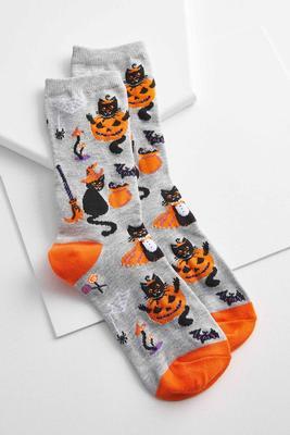 spooky evening crew socks
